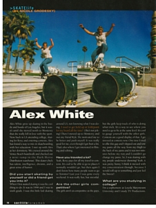 Alex White Interview Surf Life Spring 2004