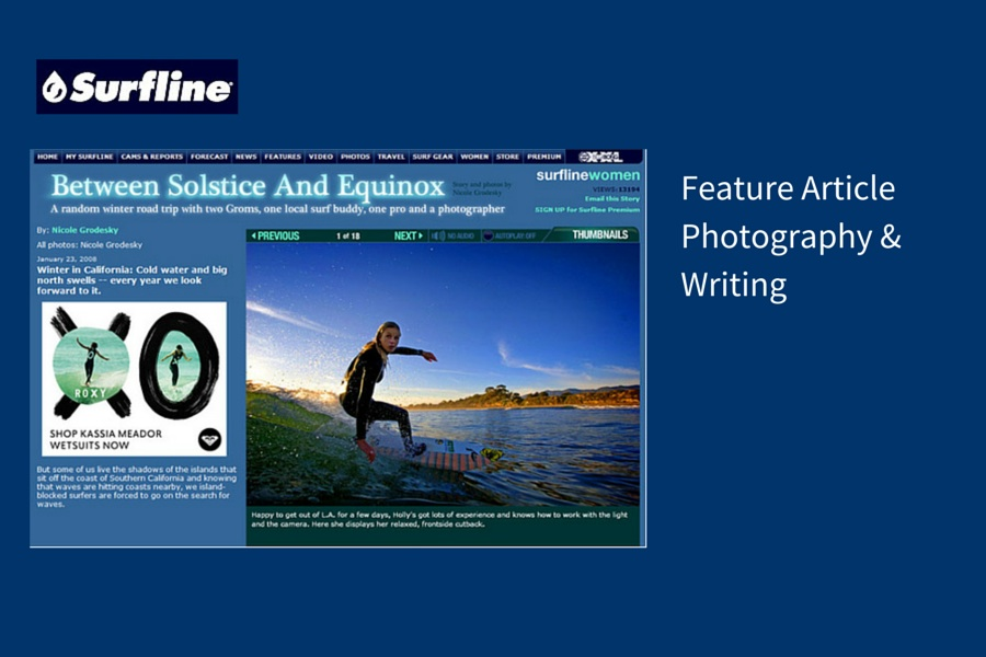 Feature ArticlePhotography &Writing