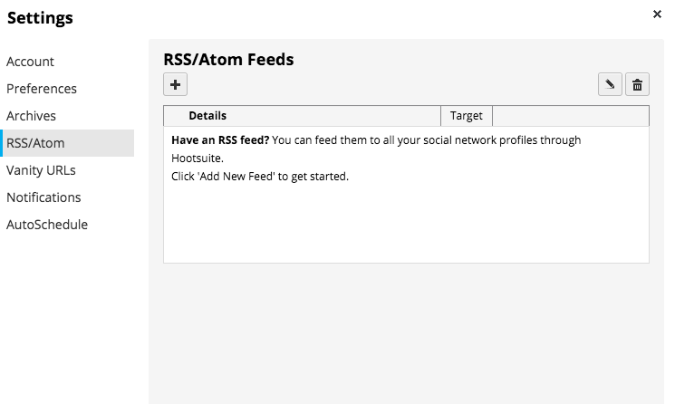 Adding an RSS Feed using Hoostsuite