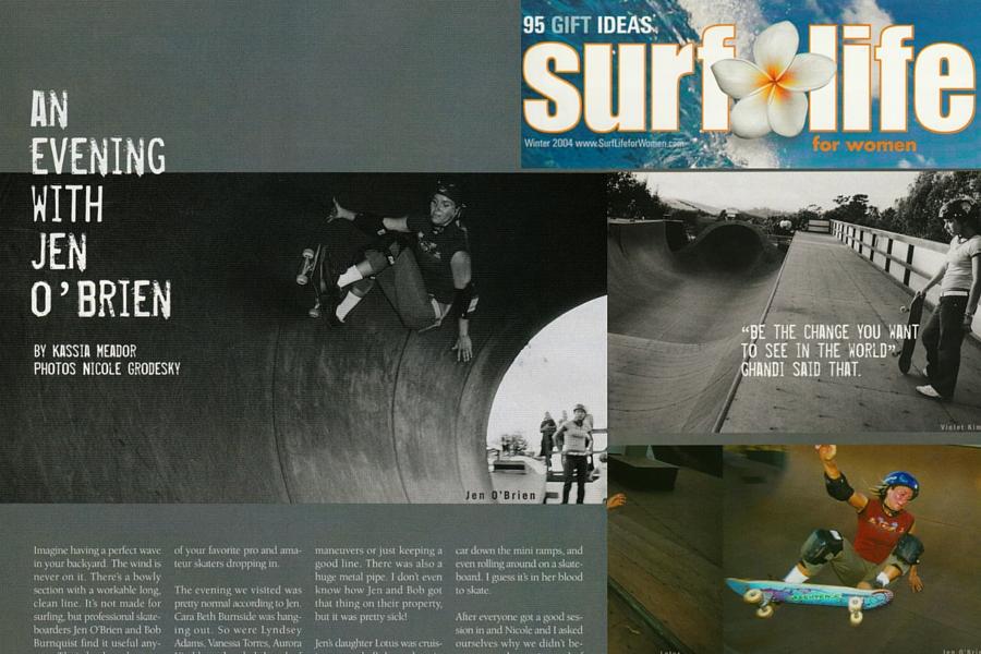 Jen O'Brien Skate Photographs by Nicole Grodesky Surf Life for Women