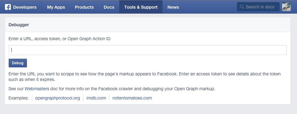 Facebook Degugging Tool