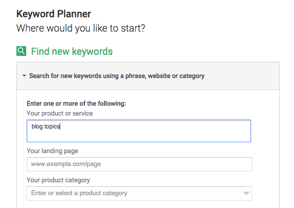 SEO Keyword research for blogging and blog topic ideas
