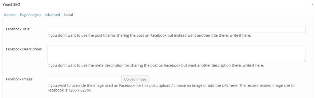 How to change your blog post featured image and description for Facebook